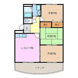 サニーヒル神ノ倉[1階]の間取り
