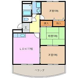 サニーヒル神ノ倉[2階]の間取り