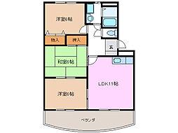 愛知県名古屋市緑区東神の倉1丁目の賃貸マンションの間取り
