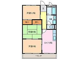 ヴィクトワール尾崎山[4階]の間取り