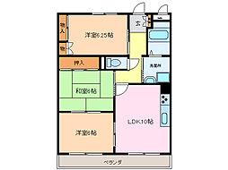 愛知県名古屋市緑区細口1丁目の賃貸マンションの間取り