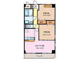 愛知県名古屋市緑区大清水東の賃貸マンションの間取り