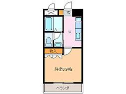 愛知県名古屋市緑区東神の倉2の賃貸アパートの間取り