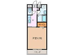 サンモール緑A棟[1階]の間取り