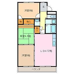ヒルハイツ桃山[2階]の間取り