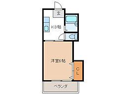 コーポ阪野(天白区)[2階]の間取り