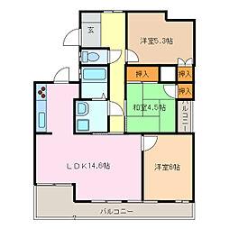 コスモ第4ビル[2階]の間取り