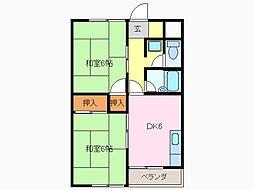メゾングリーンイースト[2階]の間取り