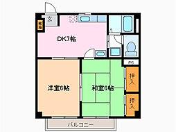 愛知県名古屋市緑区旭出3丁目の賃貸マンションの間取り