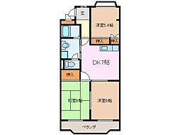 メゾンリヴェール[2階]の間取り