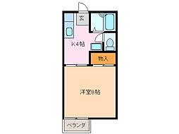 愛知県名古屋市緑区相川2丁目の賃貸アパートの間取り