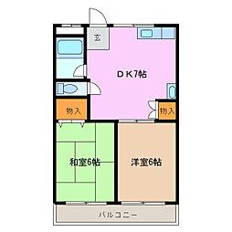 青山パークマンション[2階]の間取り