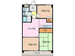 愛知県名古屋市緑区大高町字倉坂の賃貸マンションの間取り