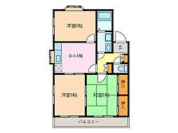 タウンサンロイヤル D棟[2階]の間取り
