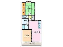 タウンサンロイヤル E棟[1階]の間取り