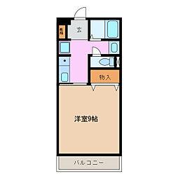 アメニティ三崎[1階]の間取り
