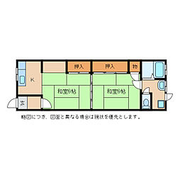 山川荘[2階]の間取り