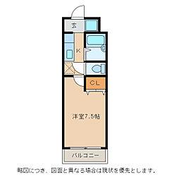 パストラール小脇[2階]の間取り