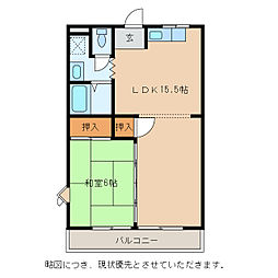 川崎マンション弐番館[1階]の間取り
