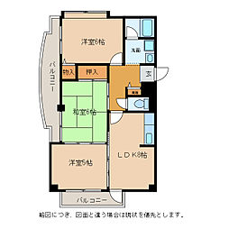 メゾンエイコー能登川II[2階]の間取り