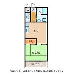 メゾンエイコー能登川II[4階]の間取り