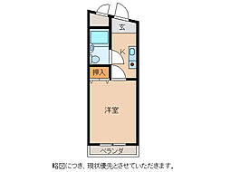 カーサ清水花[3階]の間取り