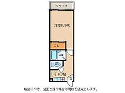 ドリームハイツ愛東[1階]の間取り