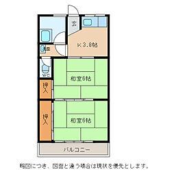 辻アパート[1階]の間取り