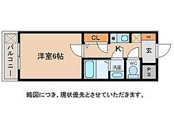 メゾン愛荘[1階]の間取り