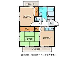 メゾンマツオ[3階]の間取り
