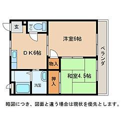 ヌーベルハウス 1・2[2階]の間取り