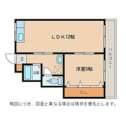 ハイツタニガワ[3階]の間取り