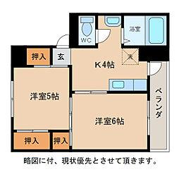 ヴィラナリー愛知川II[2階]の間取り