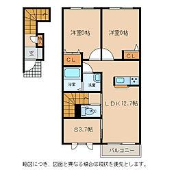 芳文荘[2階]の間取り