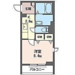 JR内房線 姉ヶ崎駅 徒歩2分の賃貸マンション 3階1Kの間取り