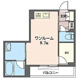 JR内房線 五井駅 徒歩8分の賃貸マンション 3階ワンルームの間取り