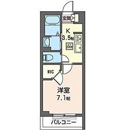 JR内房線 八幡宿駅 徒歩5分の賃貸マンション 1階1Kの間取り