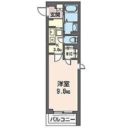 JR内房線 姉ヶ崎駅 徒歩1分の賃貸マンション 1階1Kの間取り