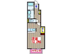 JR日豊本線 帖佐駅 徒歩13分の賃貸アパート 1階ワンルームの間取り