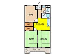 入山ビル[5階]の間取り
