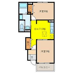 ゆいま〜るハウスA[1階]の間取り