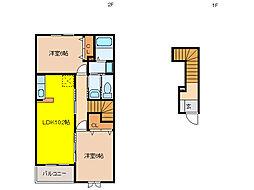 ゆいまーるハウスA[2階]の間取り