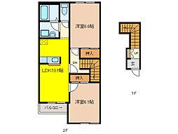 ハイムツースリー[2階]の間取り