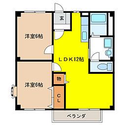 メゾン須賀II[2階]の間取り