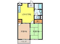 K`S HOUSE[1階]の間取り