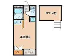 SKYROCKET Ⅰ[2階]の間取り