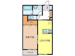コミーテ薮田B[2階]の間取り
