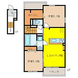 コンフォート オアシス II[2階]の間取り
