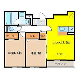 仮称)D-room岐阜市柳津町[3階]の間取り