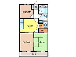 Florence吉野[2階]の間取り